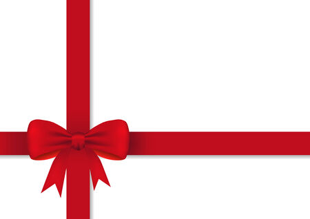 Red gift ribbon with a bow Vector
