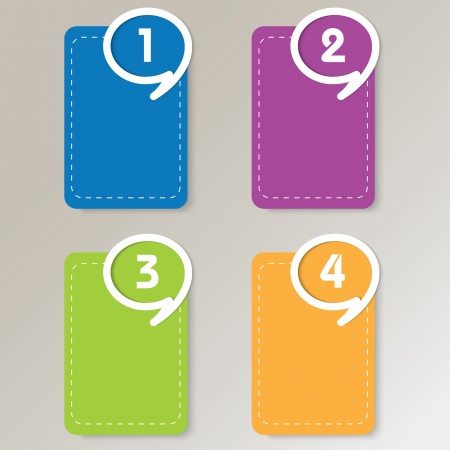 The numbered vector icons with  speech bubbles