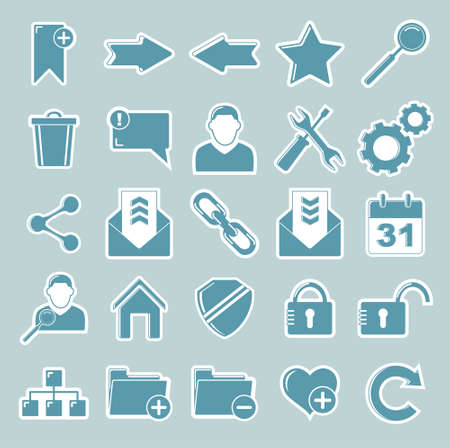 Set vector web of icons Vector