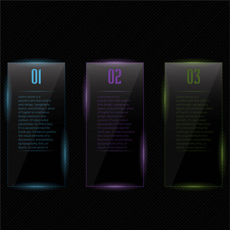 Template design colored glass Infographics. vectors