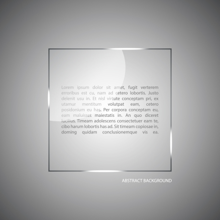 glass panel: Abstract vector background with a glass panel with copy space. Layout for a modern design. vector