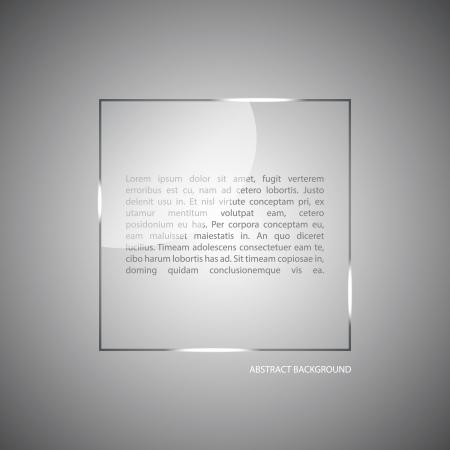 abstract vector: Abstracte vector achtergrond met een glazen paneel met een kopie ruimte. Lay-out voor een modern design. vector