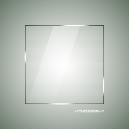 Abstract vector background with a glass panel with copy space. Layout for a modern design. vector