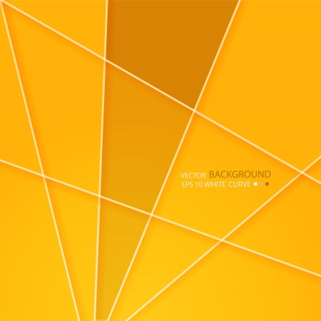 Modern abstract background with pieces of paper with  yellow and white edging. Vector. layout
