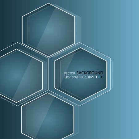 workpiece: Blue abstract background in techno style. Modern business blank for presentation. Vector workpiece. Illustration
