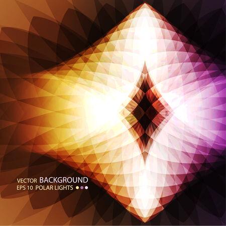 prisma: Fondo de nuevo abstracto con un polares luces de formas geométricas. Con el efecto del espectro y un lugar de la copia. Vector. Vectores