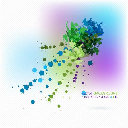 verde y morado: , Verde, manchas de tinta p�rpura azul sobre papel blanco. Resumen de antecedentes para el dise�o vebsayna moda, folletos, banners