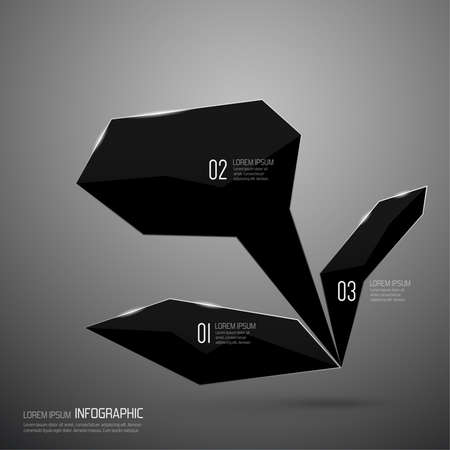 web sites: Modern design of shining crystals, triangular shapes. Template for web sites, banners, ads,  infographic. Minimalist style. Illustration