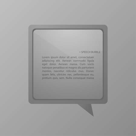 spech bubble: Modern gray spech bubble with a matte surface. Template for for infographics, option numbers, websites, reports. Layout for business reports.