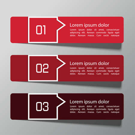 Modern  design template from paper and pointers can be used for infographics,  numbered banners, graphic or website layout vector, template for business reports.