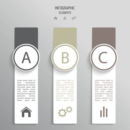 incremental: Colorful strips of paper with icons and incremental elements,  banner for infographics, option numbers, websites, reports. Layout and template for business reports. vector Illustration