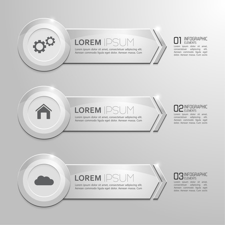 Modern shiny banner with numbers and signs.  for infographic, numbered banners,graphic or website layout vector, template for business reports.