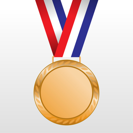 Bronze medal winners on the tape. vector illustration Vector