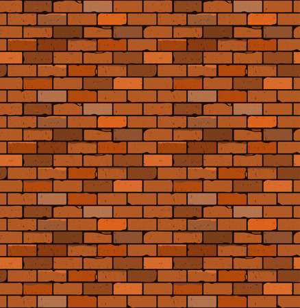 brick facades: Seamless pattern of red brick with cracks and irregularities. Vector. blank under different design