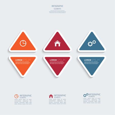 botones de plástico de colores para banderas numeradas infografía