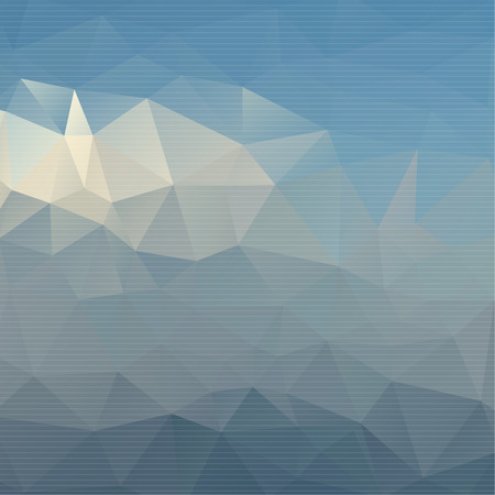 Abstract background with colored triangles. Mosaic. Layout for web design, printing, magazine, brochure Vector