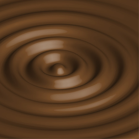 chocolate swirl: Abstract background with chocolate circles. Brown swirl. Vector. Template for your design