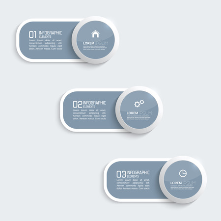 Glossy plastic buttons for infographic, numbered banners,graphic or website layout vector, template for business reports.  Vector