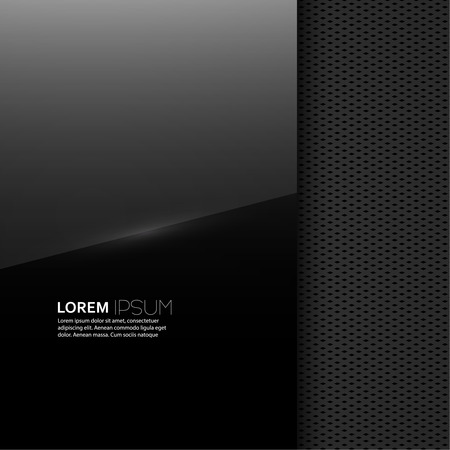 Dark glossy blank with a background texture for advertising, classified ads, layouts, web, internet, website, with frame for text Illustration