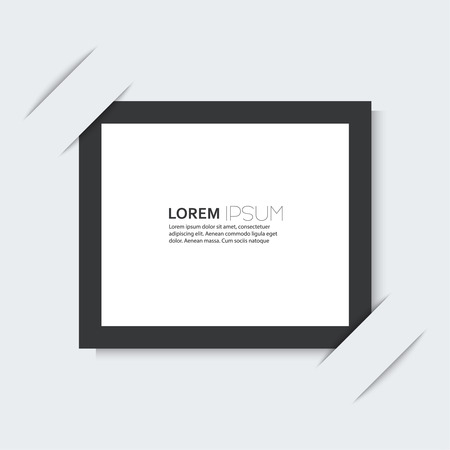 Black frame with a simple design of the background. for images, photos, graphics, text, advertising, classified ads, layouts, web, internet, website Stock Vector - 26491385