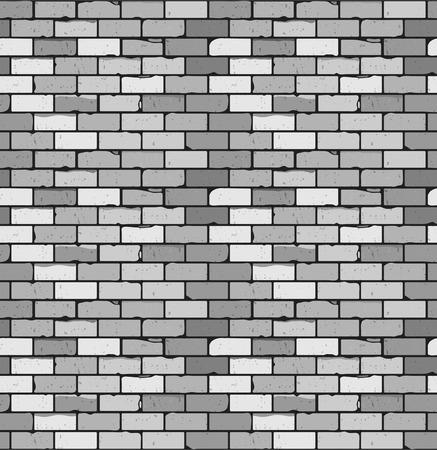 Seamless pattern of gray brick with cracks and irregularities. Vector. blank under different design 版權商用圖片 - 26491389
