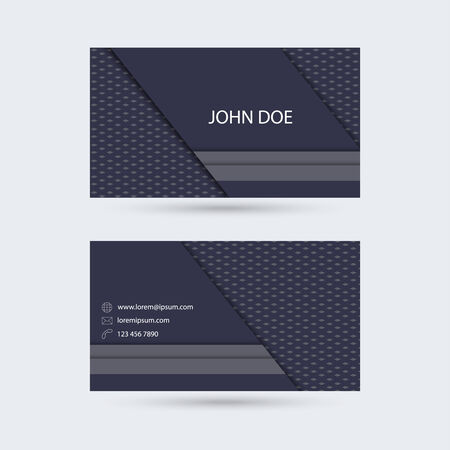 substrate: Modern  business card template with solid diagonal and vertical stripes and the bottom substrate of strict texture Illustration