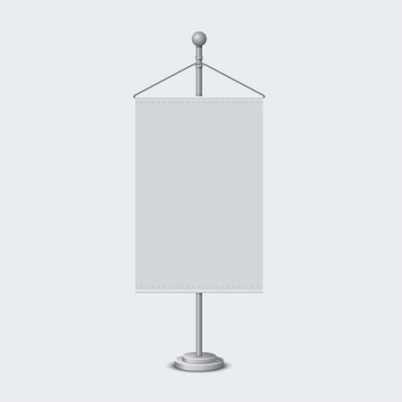 Stand with a piece of paper for text ads, information presentation. Can serve as a cover for your design Vector