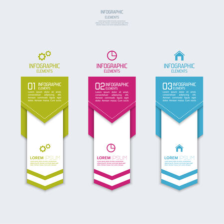 Multicolored paper stickers volume with numbers and signs.  for infographic, numbered banners,graphic or website layout vector, template for business reports.  Vector