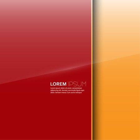 glass panel: Red glossy blank with a background  for advertising Illustration