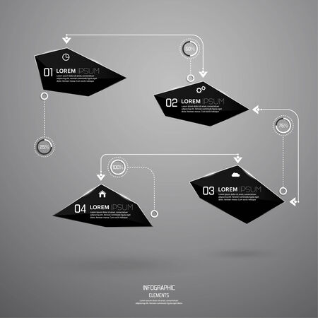 Modern design of shining crystals, triangular shapes.  Illustration