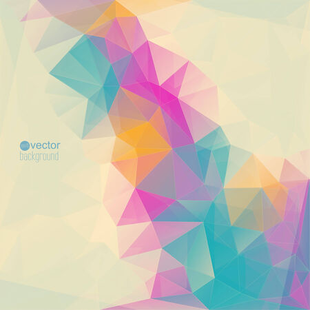 Abstract background with triangles and polygon mesh.  Vector