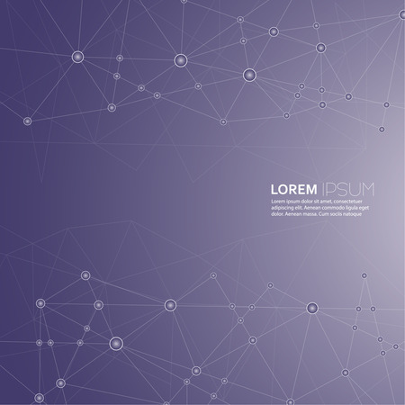 Abstract  Background with transparent Mesh and glowing lines, circles and shapes. Techno design. vector