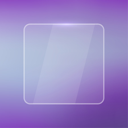 classified ads: Glowing glossy glass panel with a blurred background.  for advertising, classified ads, layouts, web, internet, website, with frame for text Illustration