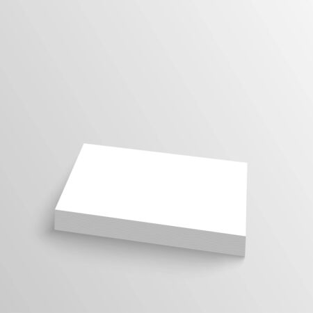 Stack of clean business cards. Corporate Identity. Isolate on white background. Layout for your design