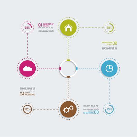 Moderne-Vorlage Mit Farbigen Spalte In Sektoren Für Infografik ...