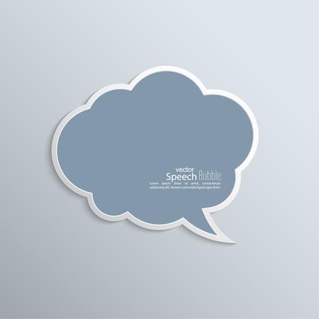 抽象的な背景紙音声バブル ベクトルに。フラットなデザイン