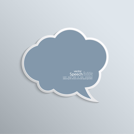 Abstract background with paper speech bubble vector. flat design Illustration