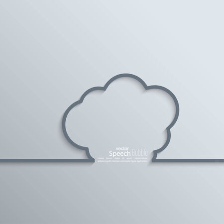 Ribbon as a cloud shadow and space for text. flat design.  Vector
