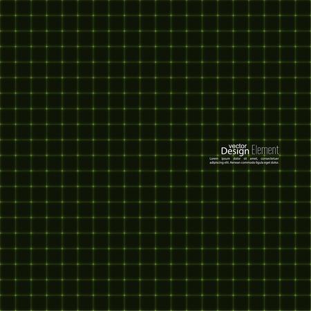 luminescent: Texture of neon lines. Luminescent markings. green Illustration
