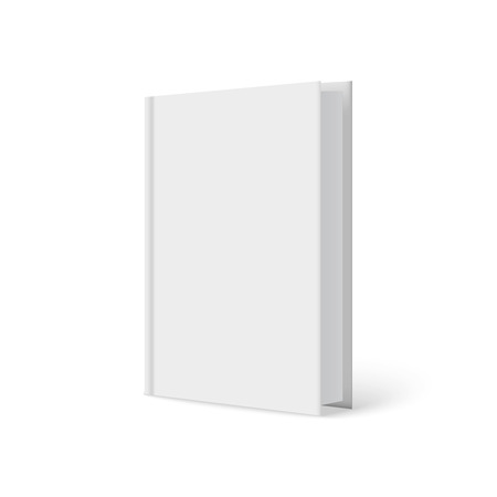 Vertically standing template books on a white background. Vector illustration. Ilustração