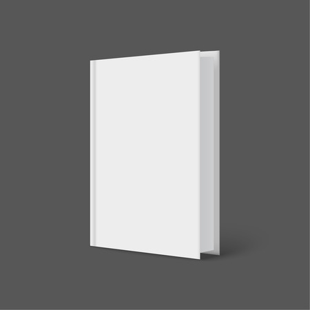 Vertically standing template books on a gray background. Vector illustration. Vector