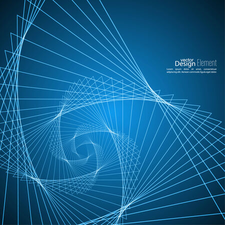 fibonacci: Abstract background with glowing spiral.