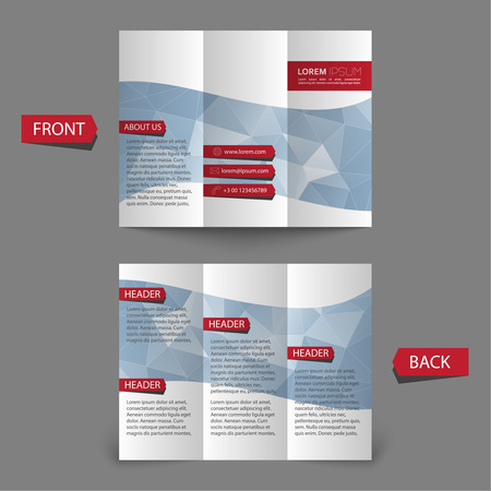 Tri fold brochure design Illustration