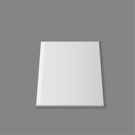 magazine template: Blank empty magazine template lying on a gray background. vector Illustration
