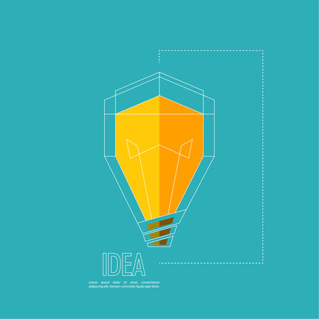 product innovation: Bulb light idea. flat design. concept  of ideas inspiration innovation, invention, effective thinking