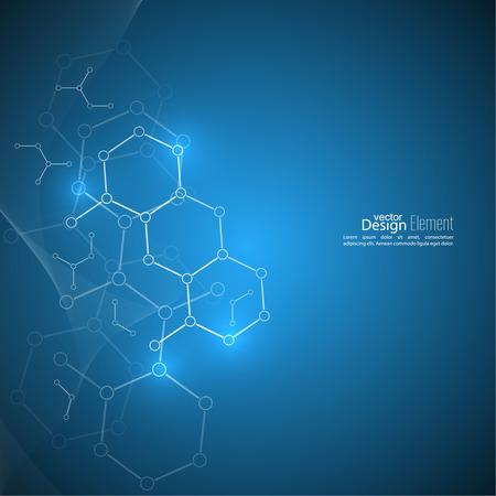 quimica: Resumen de fondo con estructura de la mol�cula de ADN. compuestos gen�ticos y qu�micos
