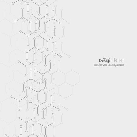 Abstract background with DNA molecule structure. genetic and chemical compounds Vector