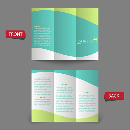 brochure: Tri fold brochure design.  mock up. corporate brochure or cover design. for publishing, print and presentation. Illustration