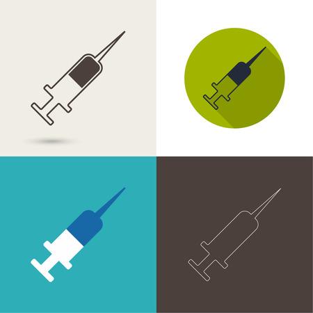 Symbol of needle and syringe