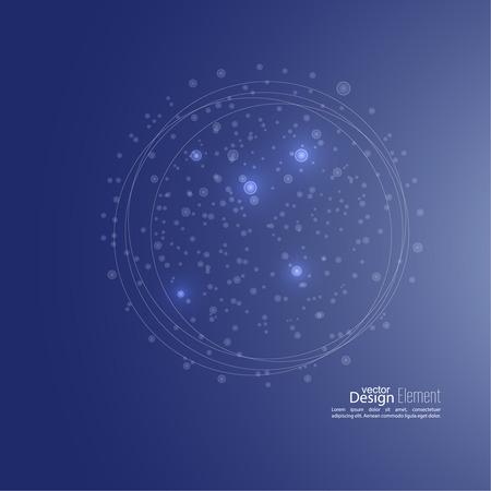 amoeba: Astratto con cellulare, ameba, struttura della molecola